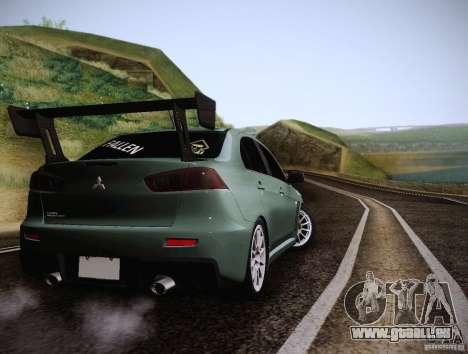 Mitsubishi Lancer Evolution Drift Edition für GTA San Andreas rechten Ansicht