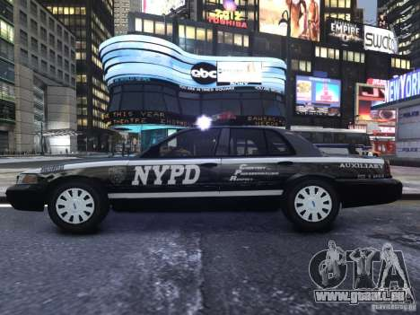 Ford Crown Victoria NYPD Auxiliary pour GTA 4 Vue arrière
