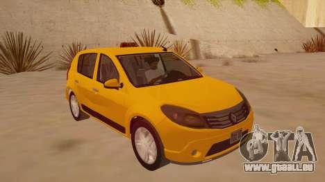 Renault Sandero Taxi für GTA San Andreas Rückansicht