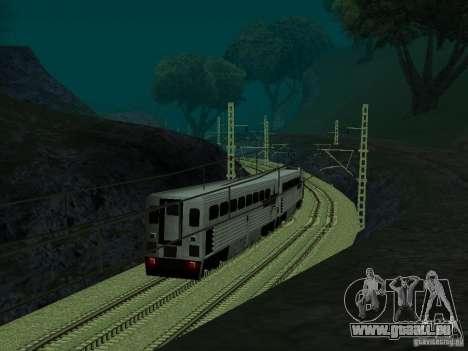 Haute vitesse de la ligne de chemin de fer pour GTA San Andreas cinquième écran
