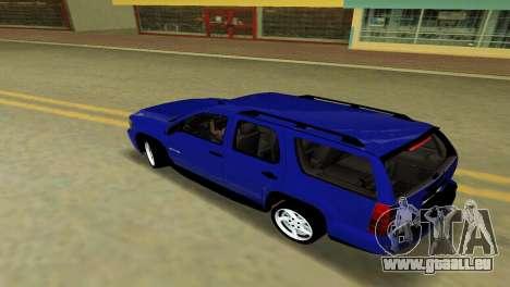 Chevrolet Tahoe 2011 pour GTA Vice City vue arrière