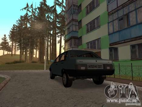 VAZ 21099 CR v. 2 für GTA San Andreas zurück linke Ansicht