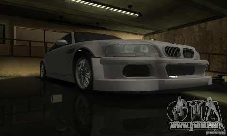 BMW M3 Tuneable pour GTA San Andreas vue intérieure