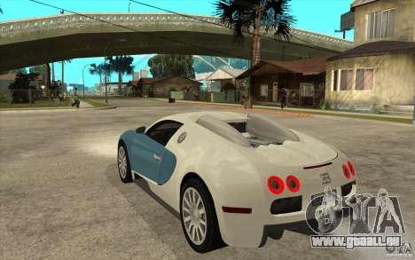 Bugatti Veyron Final für GTA San Andreas zurück linke Ansicht