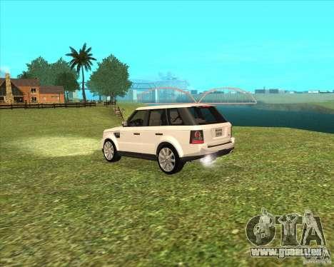 Range Rover Sport 2012 pour GTA San Andreas laissé vue