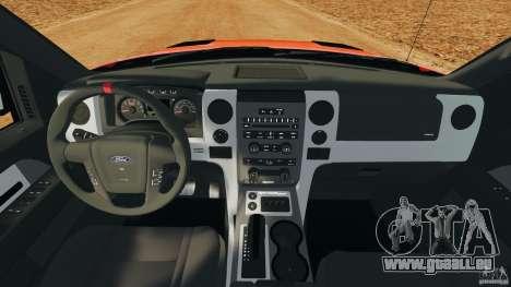 Ford F-150 SVT Raptor pour GTA 4 Vue arrière