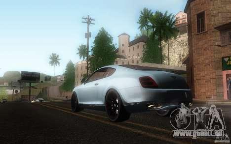 Bentley Continental SS pour GTA San Andreas vue intérieure