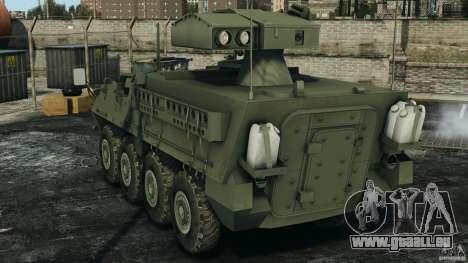 Stryker M1134 ATGM v1.0 pour GTA 4 Vue arrière de la gauche