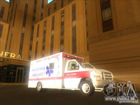 Ford E-350 Ambulance 2 pour GTA San Andreas