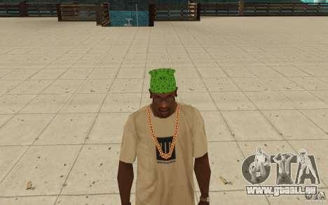 Bandana grün maryshuana für GTA San Andreas