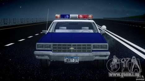 Chevrolet Impala Police 1983 pour GTA 4 est une vue de dessous