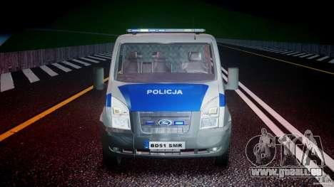 Ford Transit Polish Police [ELS] für GTA 4 Seitenansicht