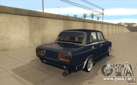 Lada VAZ-2107 rue dérive à l'écoute pour GTA San Andreas vue de côté