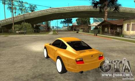 GTA IV Comet pour GTA San Andreas sur la vue arrière gauche