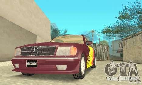 Mercedes-Benz W126 560SEC pour GTA San Andreas moteur