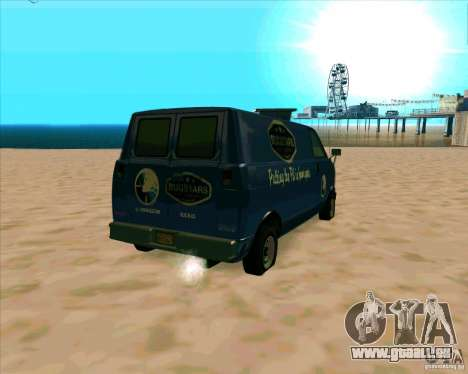 BUGSTARS Burrito from GTA IV pour GTA San Andreas sur la vue arrière gauche