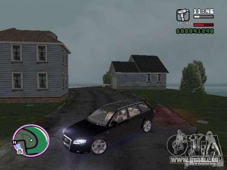 Audi A4 avant 3.2 QUATTRO pour GTA Vice City sur la vue arrière gauche