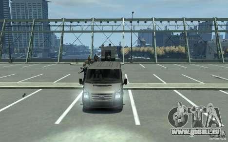 Ford Transit 2011 pour GTA 4 Vue arrière