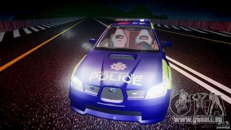 Subaru Impreza WRX Police [ELS] für GTA 4-Motor