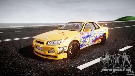 Nissan Skyline R34 GT-R Tezuka Goodyear D1 Drift pour GTA 4