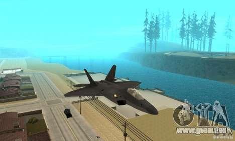 F-22 Black für GTA San Andreas Rückansicht