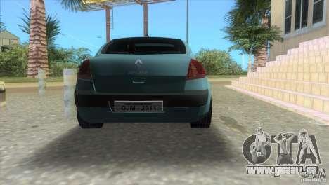 Renault Megane Sedan pour une vue GTA Vice City de la gauche