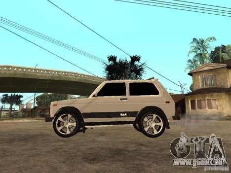 Le Niva VAZ 21213 léger Tuning pour GTA San Andreas laissé vue