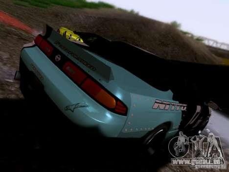 Nissan Silvia S14 Matt Powers v4 2012 pour GTA San Andreas sur la vue arrière gauche