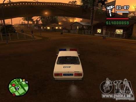 DYP 2107 police pour GTA San Andreas sur la vue arrière gauche