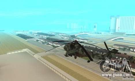 Black Ops Hind pour GTA San Andreas sur la vue arrière gauche