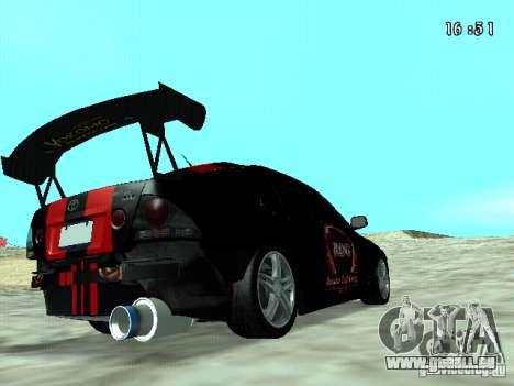 Toyota Altezza NKS Drift pour GTA San Andreas sur la vue arrière gauche