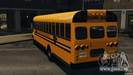School Bus v1.5 pour GTA 4 Vue arrière de la gauche