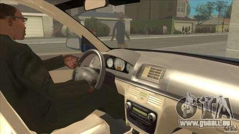 Hyundai Sonata NF pour GTA San Andreas vue intérieure