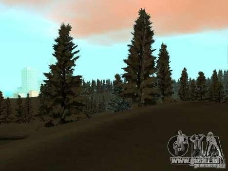Sentier d'hiver pour GTA San Andreas septième écran
