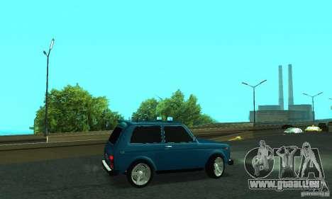 VAZ 21213 NIVA FBI pour GTA San Andreas laissé vue