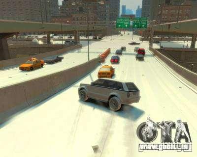 Pluie verglaçante pour GTA 4 secondes d'écran
