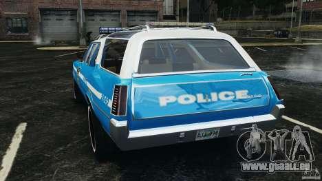 Oldsmobile Vista Cruiser 1972 Police v1.0 [ELS] pour GTA 4 Vue arrière de la gauche