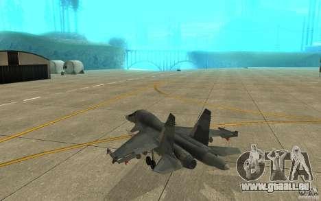 Le Su-34 pour GTA San Andreas vue de droite