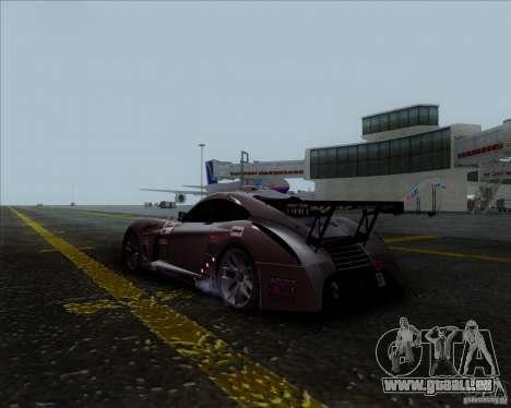 Panoz Abruzzi Le Mans V1.0 2011 pour GTA San Andreas laissé vue