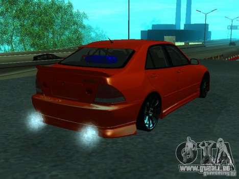 Toyota Altezza pour GTA San Andreas sur la vue arrière gauche