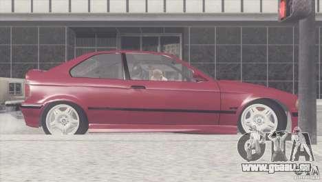 BMW e36 M3 Compact pour GTA San Andreas laissé vue