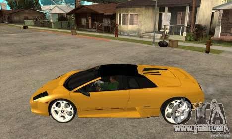 Lamborghini Murcielago Roadster Final pour GTA San Andreas laissé vue