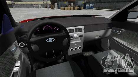 Vaz-2172 Priora Suite pour GTA 4 Vue arrière