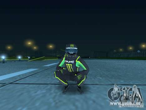 Falken Monster Energy PED für GTA San Andreas