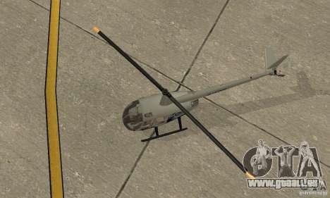 Robinson R44 Raven II NC 1.0 4 de la peau pour GTA San Andreas vue arrière