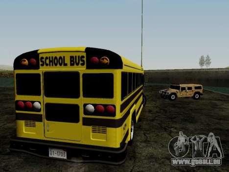 International Harvester B-Series 1959 School Bus für GTA San Andreas rechten Ansicht