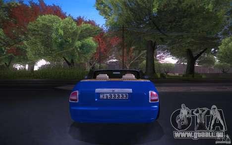 Rolls-Royce Phantom Drophead Coupe pour GTA San Andreas sur la vue arrière gauche