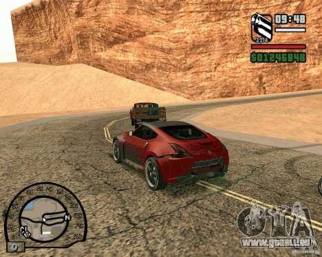 Nissan 370Z Undercover für GTA San Andreas Rückansicht