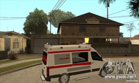 Volkswagen Crafter Ambulance pour GTA San Andreas vue de droite
