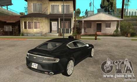 Aston Martin Rapide 2010 pour GTA San Andreas vue de droite